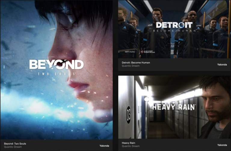 Epic Games Store Quantic Dream