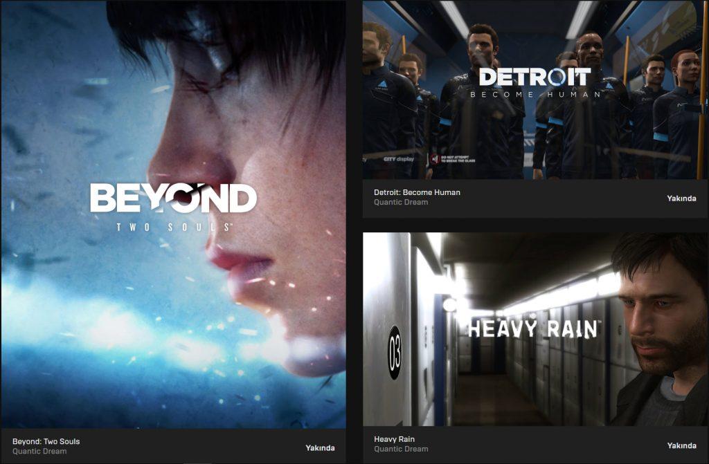 Epic Games Store Quantic Dream