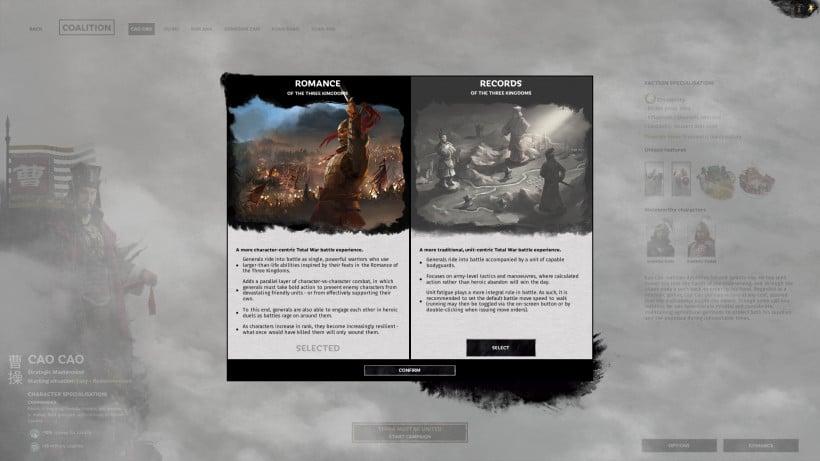 Total War: Three Kingdoms Roman ve Kayıt Modu