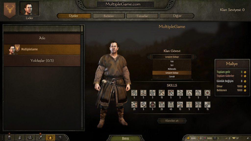 Mount & Blade 2 : Bannerlord Ordu Büyütmek