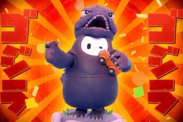 Fall Guys Godzilla kostüm